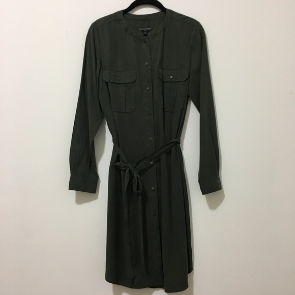 Banana Republic Dresses & Skirts - Banana Republic long sleeve midi olive dress Sz6